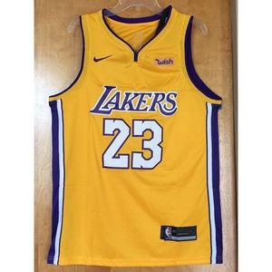 88dbabfc39d Nike Shirts - 100% STITCHED LEBRON JAMES LAKERS GOLD JERSEY